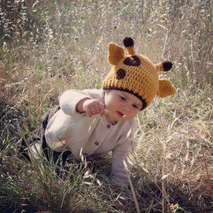 Gorro bebe modelo jirafita