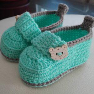 zapatos de color verde