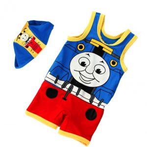 Hermoso ropa de baño niño modelo tren Thomas