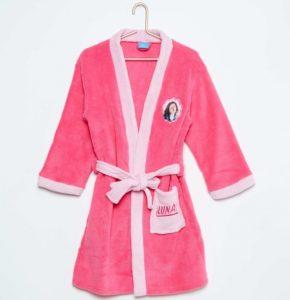 Bata de baño bebe mujer con diseño Luna