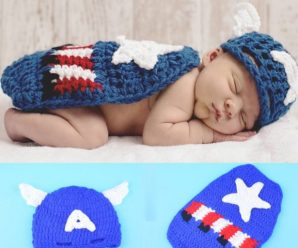 Disfraces de superhéroe para recién nacido tejido a mano