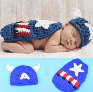 Disfraz recién nacido Capitán America