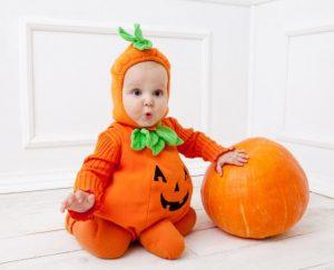 Encantador disfraz calabaza bebe
