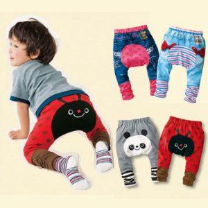 Graciosos pantalones bebe caritas lindas