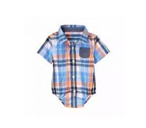 Hermosa camisa body para bebe manga corta