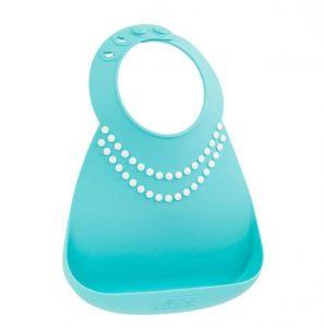 Hermoso babero de silicona modelo collar