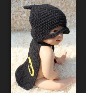 Hermoso disfraz recien nacido Batman