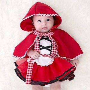 Hermoso disfraz caperucita bebe