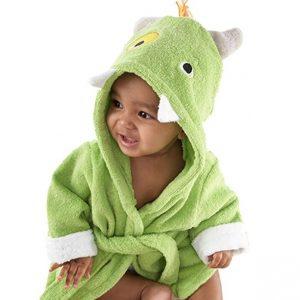 Linda bata de baño bebe color verde