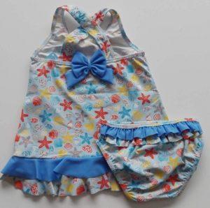 Linda ropa de baño niña dos piezas