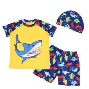Lindo ropa de baño niño modelo tiburon