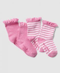 Mediecitas recién nacida color rosado