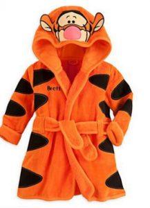 Tierna bata de baño bebe diseño tiger
