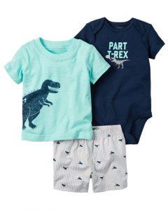 Conjunto tres piezas de ropa para bebe varoncito