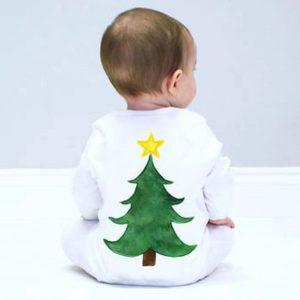 Enterizo bebe diseño arbolito de navidad