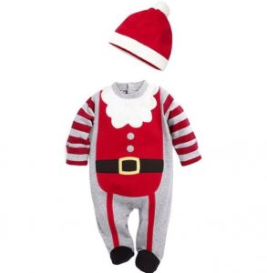 Enterizo bebe diseño Papa Noel