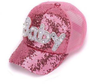 Gorra para niña estilo urbano color rosado