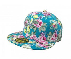 Gorra para niña visera plana floreado