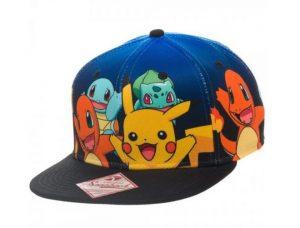 Gorra para niños con visera plana Pikachu
