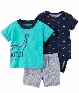 Lindo conjunto de ropa para bebe, diseño Dinosaurio