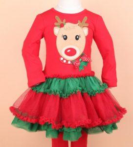 Hermoso vestido niña con diseño de Reno