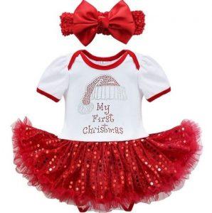 Hermoso vestido niña temporada navideña