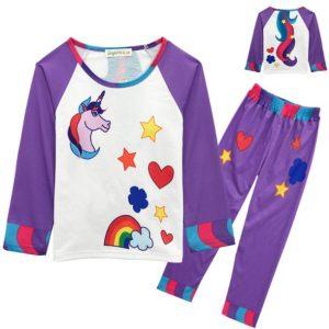 Linda pijama niña modelo unicornio
