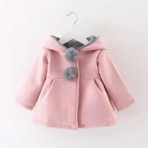 Lindo abrigo niña color rosado
