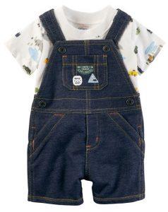 Lindo short overol para bebe jeans