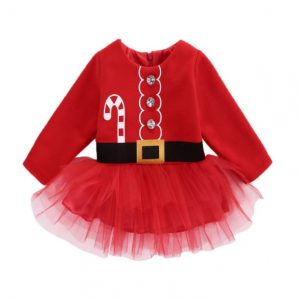 Novedoso vestido niña estilo Navidad