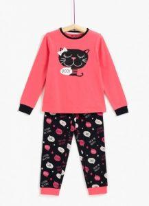 Hermosa pijama niña, modelo gatita