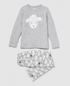 Tierna pijama niña plomo
