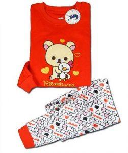 Pijama niña color rojo