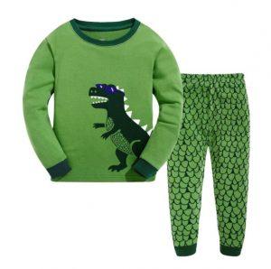 Pijama niño color verde