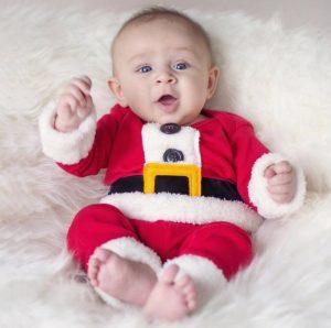 Ropa de bebe diseño Papa Noel