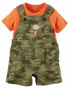 Short overol para bebe modelo comando