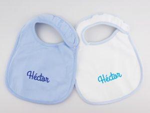 """Novedosos baberos con nombre de bebe """"Hector"""""""