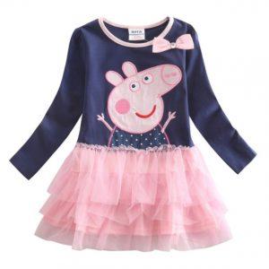 Bello vestido para niñas con diseño Peppa