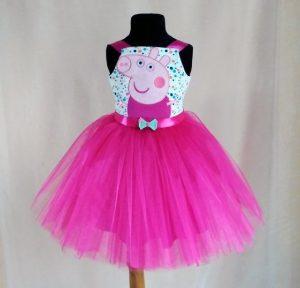 Hermoso vestido Peppa color fucsia