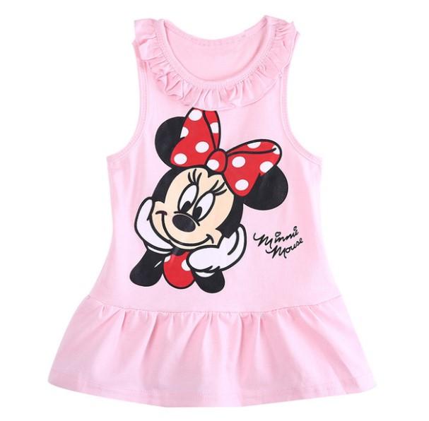 Lindos vestidos para niñas con diseño de Minie