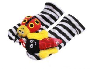 Bello calcetín para estimular a tu bebe