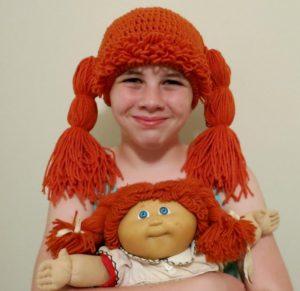 Gorro peluca para niña y muñeca igualitas