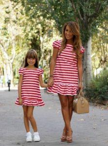 Vestidos casuales para mama y hija