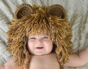 Lindo gorro peluca modelo leoncito