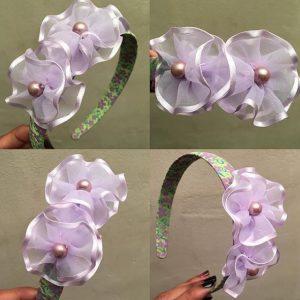 Tiernas vinchas para niña color lila