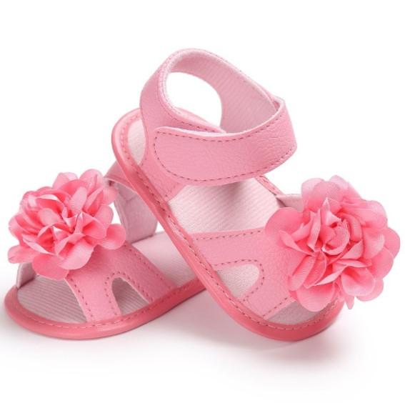 sandalia para bebe color rosado