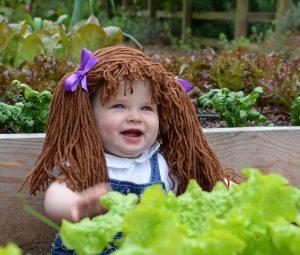 Tierno gorro peluca de lana para bebe