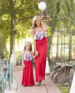 Vestido elegante paramadre e hija igualitas
