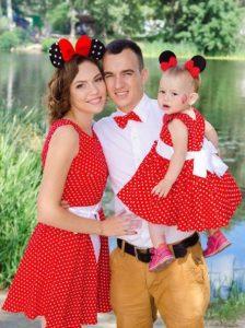 Vestido Minie paramadre e hija