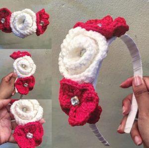 Novedosa vincha tejida a crochet